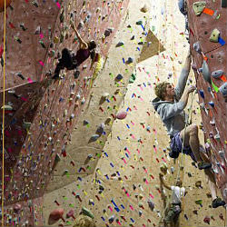 Rock climbing is a great hobby to have fun and stay fit.