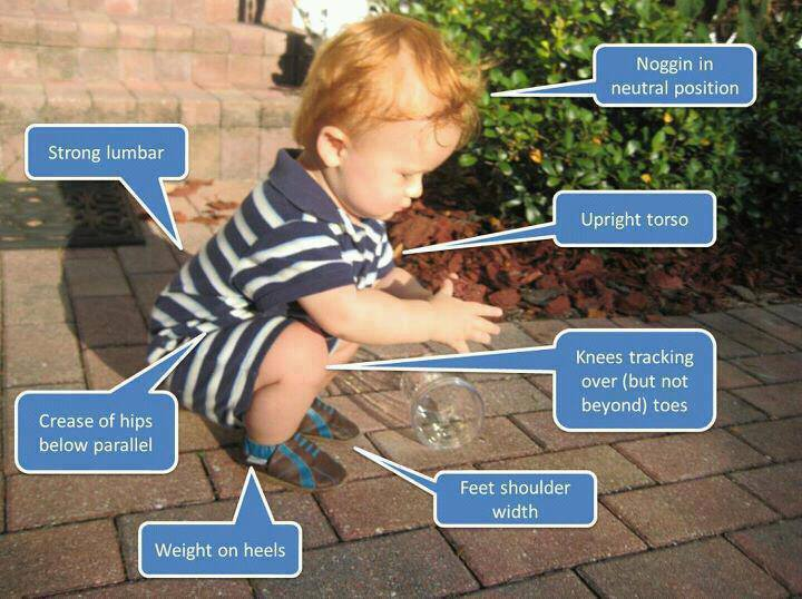 If you can't squat as easily as this kid, you need Wall Squats