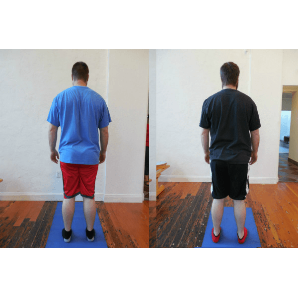 Improvements in Andrew's posture after 6 weeks of Gyrotonic training